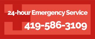 24-hour Emergency Service CALL 419-586-3109